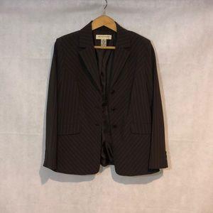 Apostrophe Brown Pin stripe Blazer Size 16p
